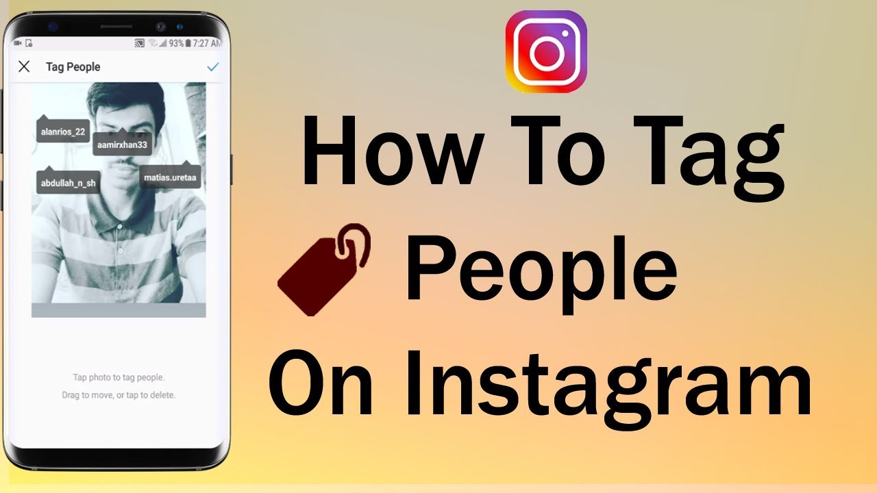 How to tag people on instagram